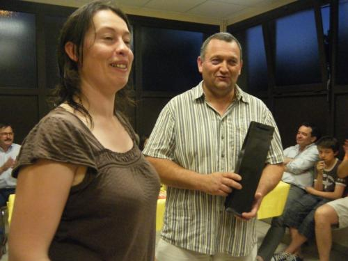M.Claire (joueuse) et Pascal (sponsor)