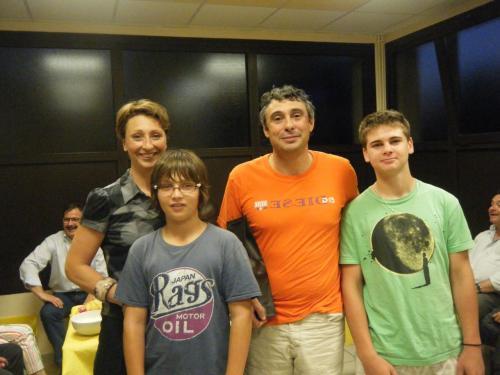 Kiki (joueuse), Pierre, Jean-Philippe (sponsor SESAME) et Nico (jeune)